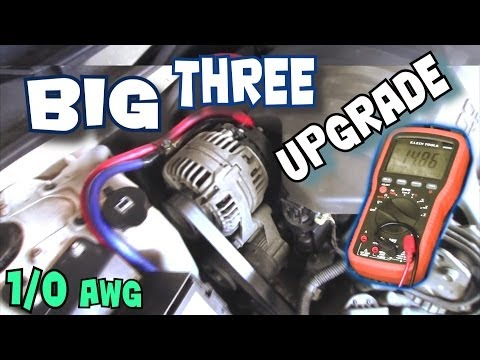 How To Install BIG THREE Upgrade | EXO's BIG 3 Car Audio Wiring Tutorial to Increase Power Flow