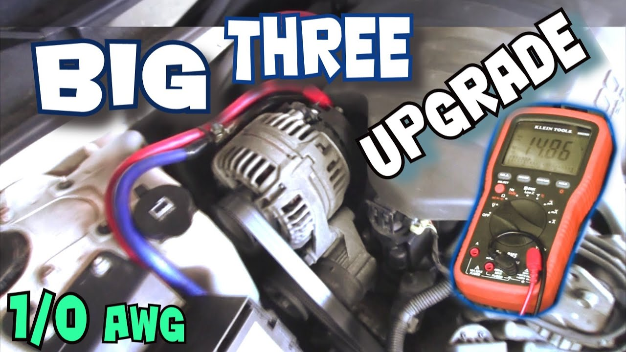how to install big three upgrade exo s big 3 car audio wiring tutorial to increase power flow youtube [ 1920 x 1080 Pixel ]