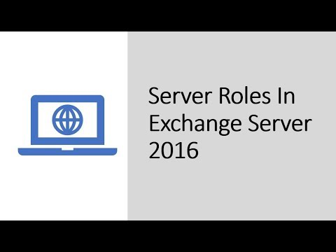 Server Roles In Microsoft Exchange Server 2016