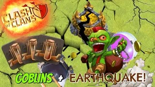 "Clash of Clans | All Goblin And Earthquake Spells | ""GRAB ALL THE LOOT!!"""