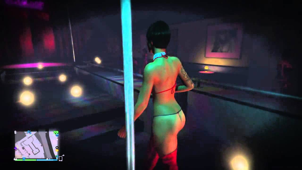 Go inside a strip club