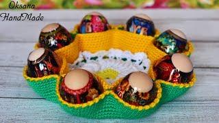 Пасхальная корзина крючком. Мастер класс. Easter basket crochet