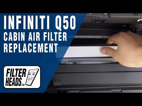 How to Replace Cabin Air Filter 2017 Infiniti Q50