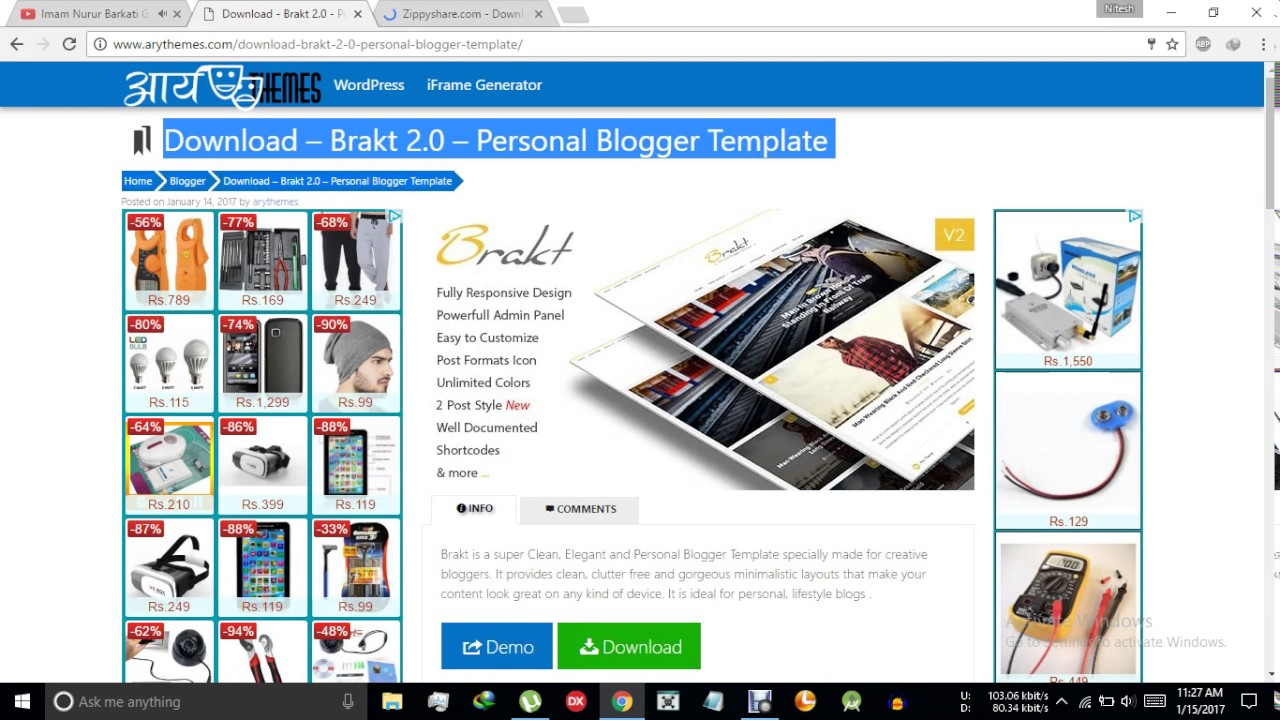 Download – Brakt 2.0 – Personal Blogger Template - YouTube