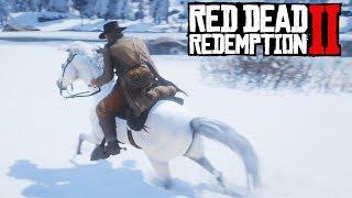 Red Dead Redemption 2 - Domando o Melhor Cavalo da Neve!