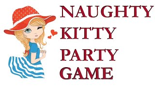 Naughty kitty party game with lipstick| Couple kitty party games| Funny Games For Ladies Kitty Party