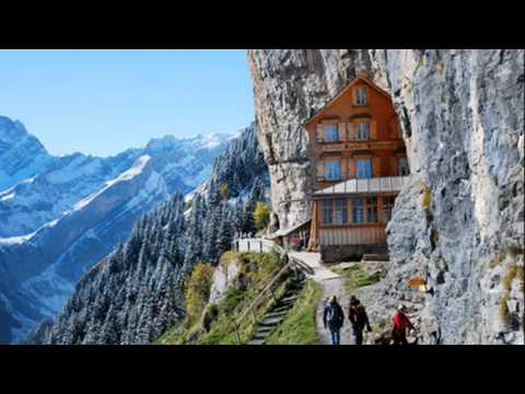 aescher hotel in appenzellerland switzerland youtube. Black Bedroom Furniture Sets. Home Design Ideas
