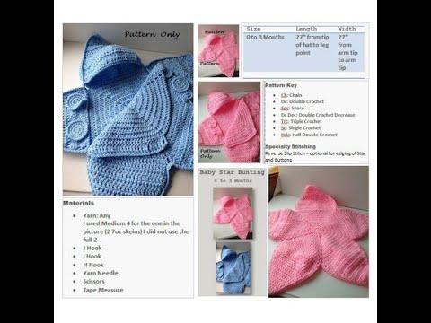 Knitting Patterns Sleep Sack Pattern Crochet Baby Star Bunting