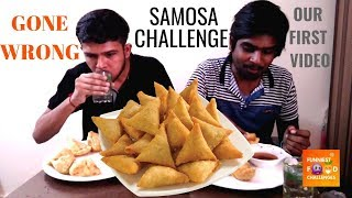 Big Samosa Eating Challenge Gone Wrong   Samosa eating competition   Food Challenge India