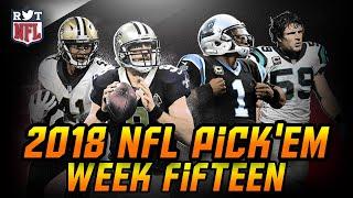 2018 Week 15 NFL Predictions | NFLRT Pick'em Challenge