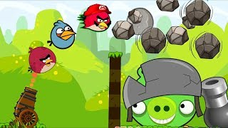 Angry Birds Cannon Collection 2 - BIRDS VS STONES INTERESTING BATTLE!