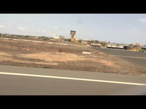 Boa Vista Cape Verde Airport Taxi & Takeoff  26/05/2016 Thomson Airways