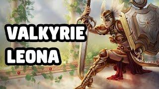 VALKYRIE LEONA SKIN SPOTLIGHT - LEAGUE OF LEGENDS