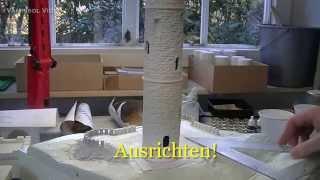 Bauen mit Gips - Zusammenbau der Gipsbauteile der Vampisol Tillyschanze V1220