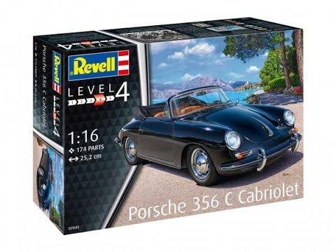 """Обзор модели автомобиля """"PORSCHE 356 CABRIOLET"""" фирмы """"Revell"""" в 1/16 масштабе."""