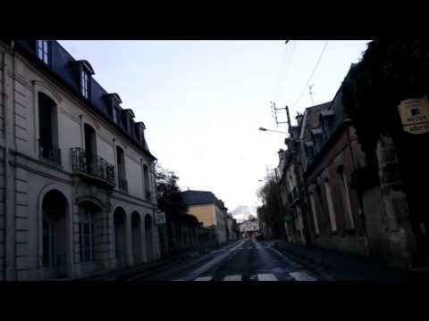 Mr Shan driving in Senlis, France at 8 pm