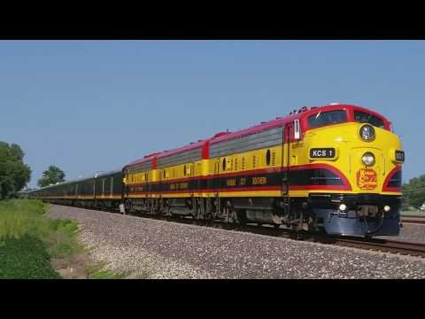 Kansas City Southern KCS Southern Belle Passenger Train in Mitchell, IL