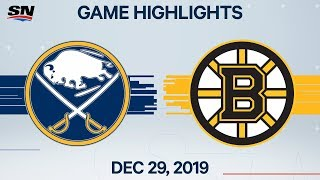 NHL Highlights | Sabres vs. Bruins - Dec. 29, 2019
