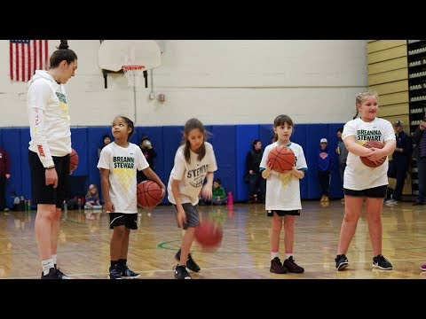 Basketball superstar Breanna Stewart hosts camp in Syracuse