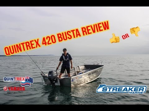 Quintrex 420 Busta Review by Streaker Marine