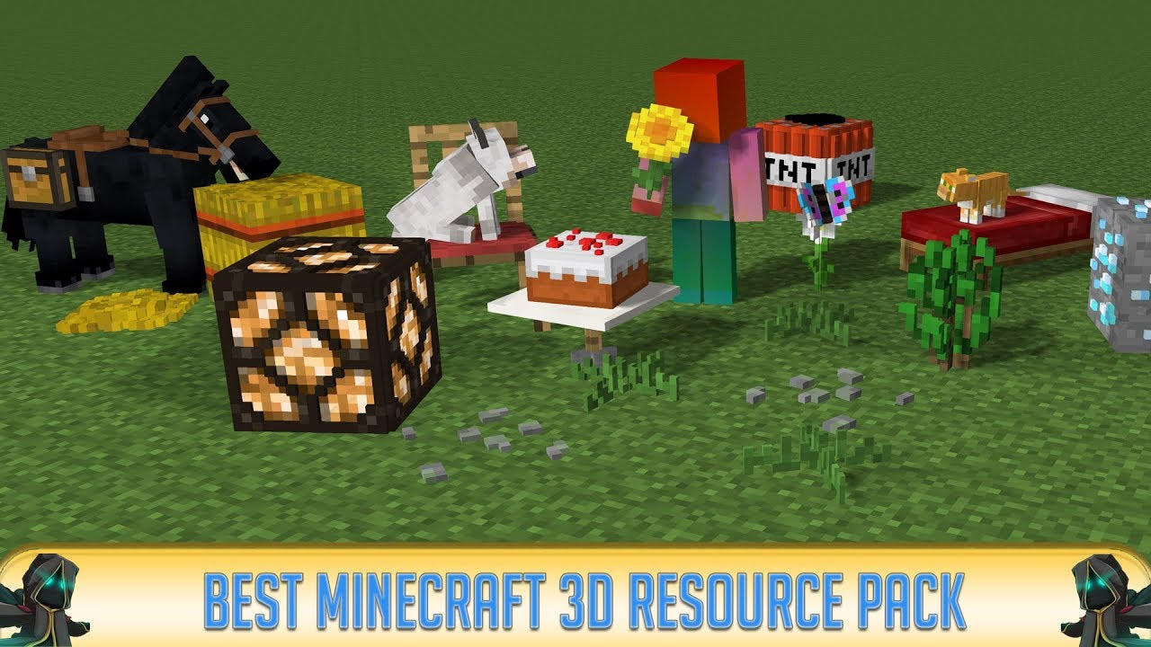 Minecraft Amazing 3d Resource Pack Youtube