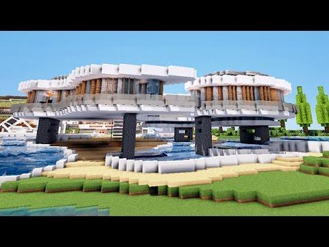 MINECRAFT - Maison De Luxe sur Pilotis !! - YouTube