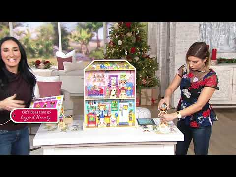 Daisy Girls Wooden Dress Up Fun Dollhouse and Book on QVC