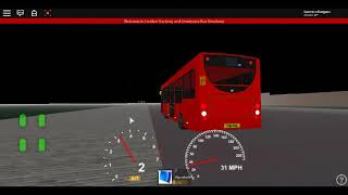 Roblox London Hackney & Limehouse bus Simulator E200 (euro 6) CSG CTP on Route 26 Winter 2017