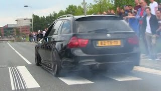 THE 900HP+ BMW 335i IS BACK IN BLACK!   INSANE REVS + BURNOUT
