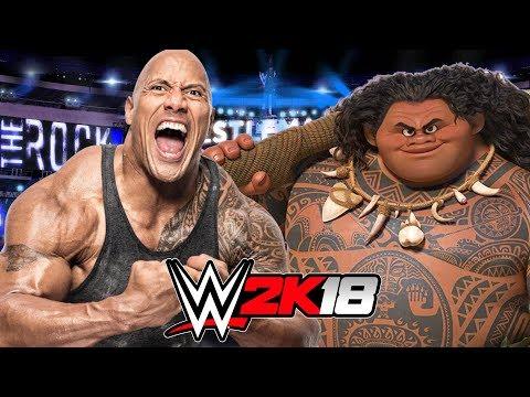 THE ROCK vs MAUI   WWE 2K18 Gameplay thumbnail