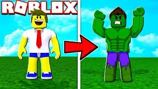 I TURNED THE SUPER HULK INTO ROBLOX!