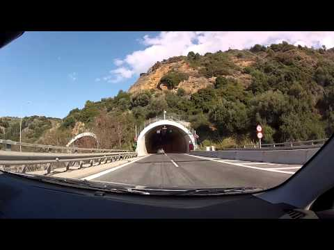 Zarouchleika to University of Patras (city and freeway / motorway driving) - onboard camera