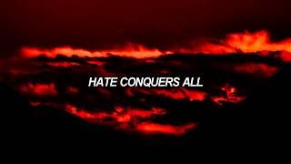 anti-flag - hate conquers all (lyrics)