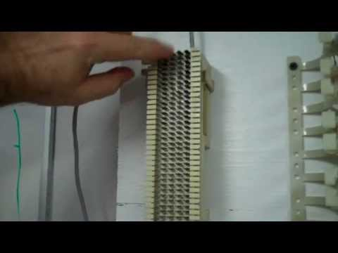 Punching down 4-pair cable on 66 block