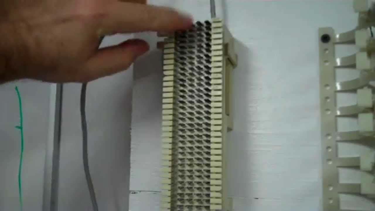hight resolution of punching down 4 pair cable on 66 block youtube