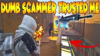 DUMB Scammer TRUSTED ME With His Modded Nocturno! (Scammer Gets Scammed) Fortnite Save The World