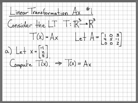 Linear Algebra Example Problems - Linear Transformation Ax #1