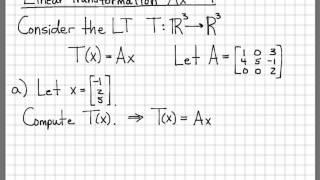 Lineare Algebra Beispiel Probleme - Lineare Transformation Ax #1