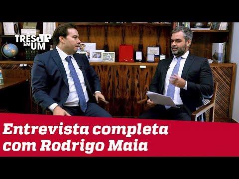 Rodrigo Maia no 3 em 1 - confira entrevista a #CarlosAndreazza