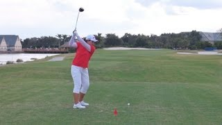 GOLF SWING 2012 - INBEE PARK DRIVER - DOWN THE LINE & SLOW MOTION - HQ 1080p HD