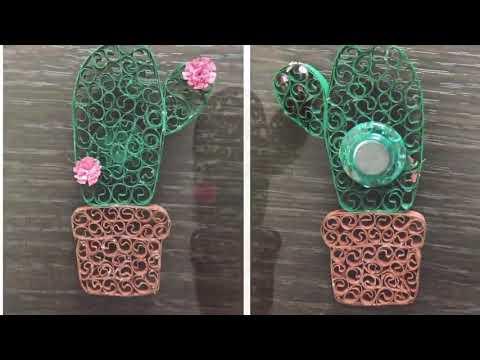 Cactus Fridge Magnets DIY