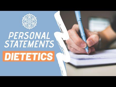 Writing The PERFECT Personal Statement | Dietetics \u0026 Future Dietitians