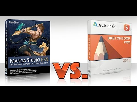 Manga Studio 5 EX VS Sketchbook Pro 7 - Review