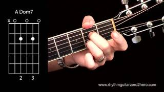 acoustic guitar chords learn to play a7 a k a a dominant 7