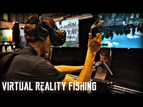 Virtual reality bass fishing icast mega vlog youtube for Virtual reality fishing