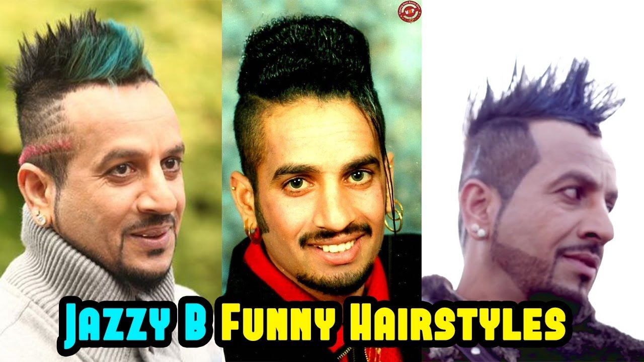 Jazzy B Funny Hair Styles  Jazzy B Fashion, Life Style  Bolly Fry