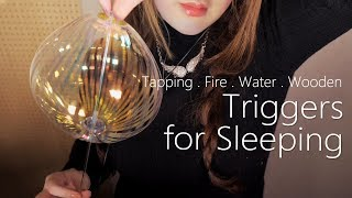 ASMR Relaxing Triggers for Sleeping 🌙 (Tapping, Wooden, Water, Fire, Hi-Fi)