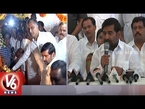 Ministers Harish Rao And Jagadish Reddy Release Water From Nagarjuna Sagar   V6 News