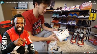 JESSER GIVES ME NO PROPS!! Reacting To His $30,000 SNEAKER COLLECTION!