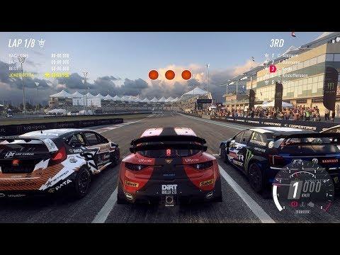 Dirt Rally 2.0 | Renault Megane RS RX (RallyCross) - Yas Marina Circuit Abu Dhabi (4k)